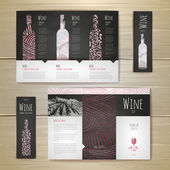 Watercolor Wine concept design. Corporate identity. Document temlate — Stockvektor