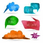 акварель речи пузыри — Cтоковый вектор