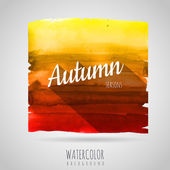 Watercolor abstract background. Seasons. Autumn — Stock Vector