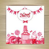 Sweet or dessert menu desing — Stock Vector