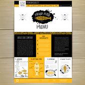 Seafood concept Web site design. Corporate identity. — Stock Vector