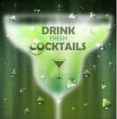 Cocktail blurred background — Stock Vector
