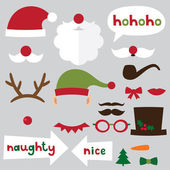 Christmas photo props set — Stock Vector