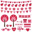 Valentine design elements set — Vecteur #61791027