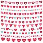 Valentine's Day decoration set — Stock Vector #61791031