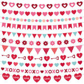 Valentine's Day decoration set — Stockvector