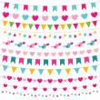Party bunting set — Stock Vector #77294180