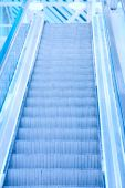 Perspective of escalator — Stock Photo