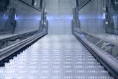 Perspective of escalator — Stok fotoğraf