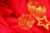 Decoração de Natal no vermelho — Fotografia Stock