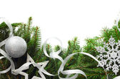 Christmas tree with decor — Stock Photo