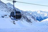 Ski lift in mountains — Stock Photo
