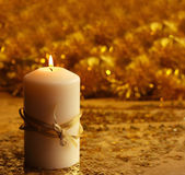 Christmas candle — Stock Photo