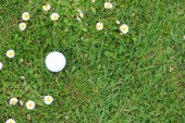 Golf ball op cursus — Stockfoto