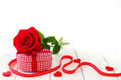 Valeintines day gift — Stock Photo