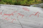 Rock carvings at Alta — Stock Photo