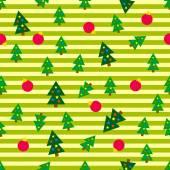 クリスマスの木のシームレスな背景 — ストックベクタ