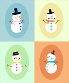 Snowman display — Vector de stock