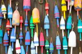 Colorful buoys — Stock Photo