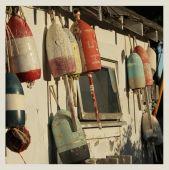 Vintage buoys — Stock Photo