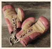 Vintage boxing gloves — Stock Photo