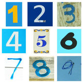 Number one ot nine in blue — Stock Photo