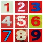 Number one ot nine — Stock Photo #60403621