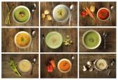 4 sopas verdes — Foto de Stock
