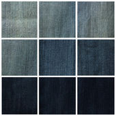 Collage of different jeans colors — Stock Photo