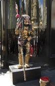 Street performer monster — Stock Photo