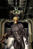 Alien trooper soldier — Stock Photo