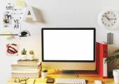 Modern creative workspace.  — Stock Photo