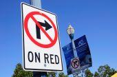 No right turn. — Stock Photo