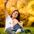 Mother and baby - capturing moments — Stock Photo #52449891