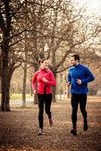 Par correr juntos — Foto de Stock
