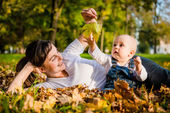 Mother and baby - happy life — Stock Photo