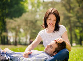 Happy couple together in nature — Stock Photo