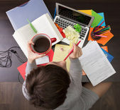 Messy workplace — Stock Photo
