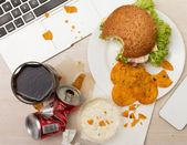 Luch at office — Stock Photo