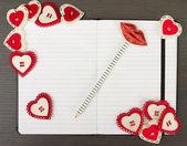 Valentine notebook — Stock Photo