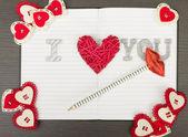 Valentine notebook — Foto de Stock