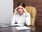 Office lady — Stock Photo