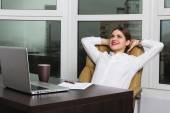 Office lady — Stock Photo