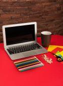 Creative workplace — Stock Photo