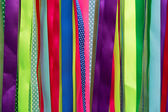 Colorful ribbons abstract background — Stock Photo
