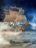 Fantasy ship — Stock Photo