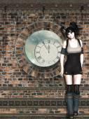 Steampunk woman — Stock Photo