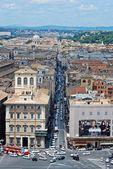 Letecký pohled na Řím z památník vittorio emanuele — Stock fotografie