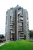 The concrete house in the Vilnius city — Stock Photo