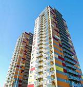 Vilnius city Justiniskes district new house — Stock Photo